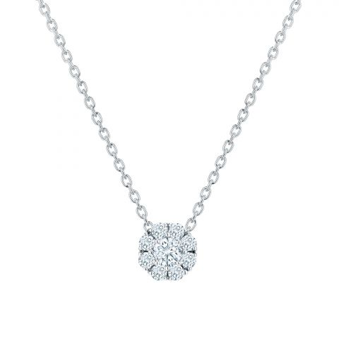 Birks 18K White Gold .24cts  Diamonds Gold Necklace with Stones 450005966915
