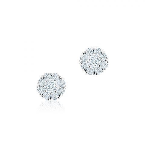 Birks 18K White Gold .26cts  Diamonds Gold Earrings with Stones 450005967172