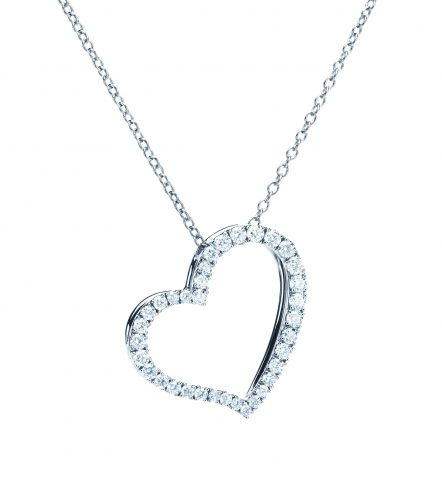 Birks 18K White Gold .31cts  Diamonds Gold Necklace with Stones 450005880785