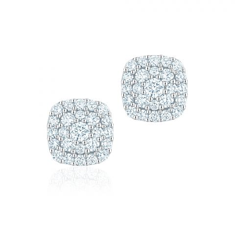 Birks 18K White Gold .42cts  Diamonds Gold Earrings with Stones 450012706436
