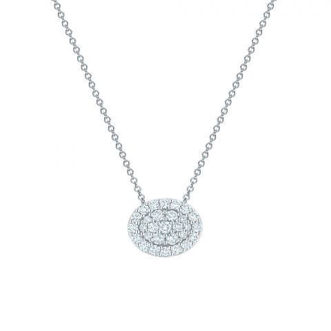 Birks 18K White Gold .50cts  Diamonds Gold Necklace with Stones 450012707266