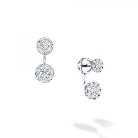 Birks 18K White Gold .67cts  Diamonds Gold Earrings with Stones 450014408086