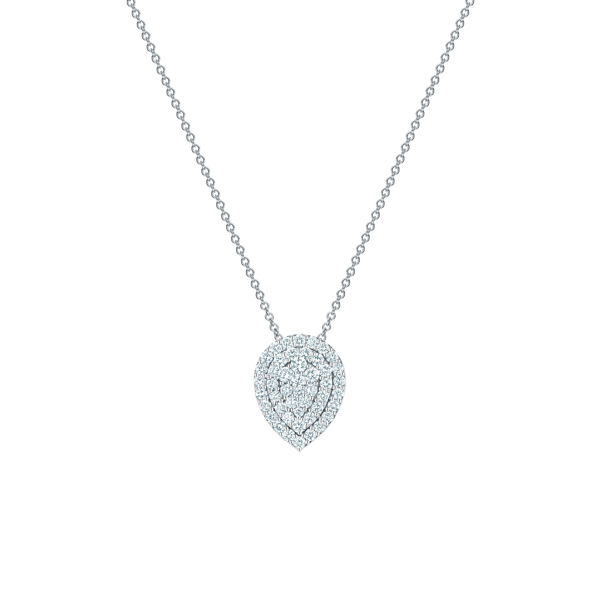 Birks 18K White Gold .85cts  Diamond Gold Necklace with Stones 450012707679