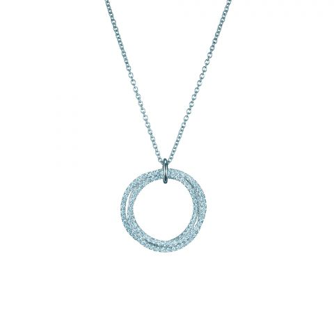 Birks 18K White Gold .86cts  Diamonds Gold Necklace with Stones 450006364482