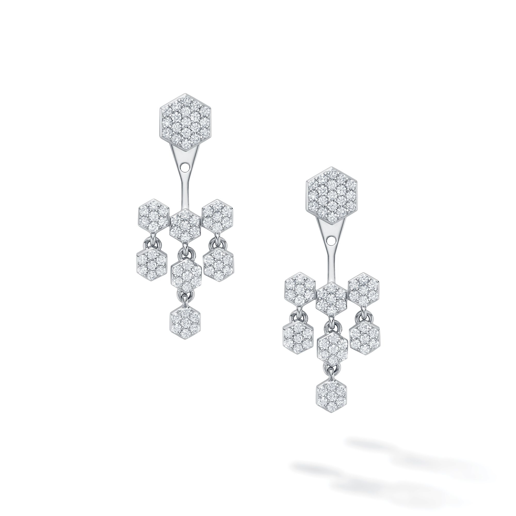 Birks 18K White Gold 1.31cts  Diamond Gold Earrings with Stones 450014069997