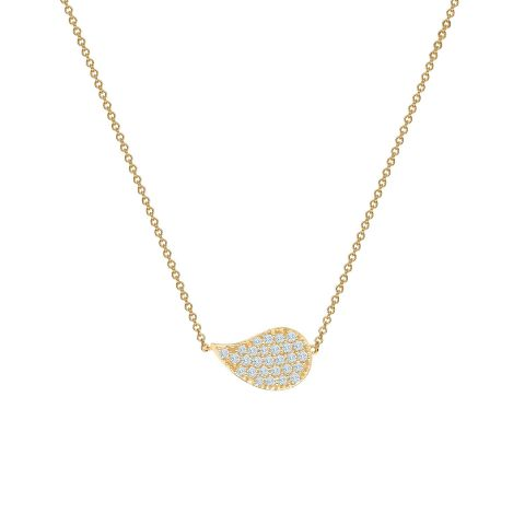 Birks 18K Yellow Gold .15cts  Diamonds Gold Necklace with Stones 450012364384