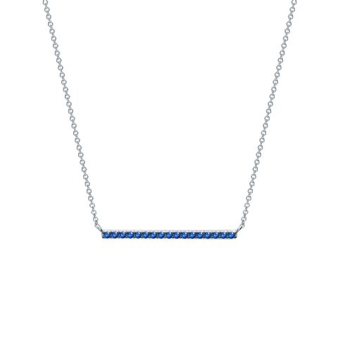 Birks 18k White Gold .19cts  Sapphires Gold Necklace with Stones 450012279244