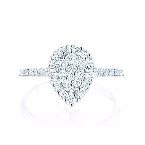 Birks 18k White Gold .60cts  Diamonds Gold Ring with Stones 450011507799-7