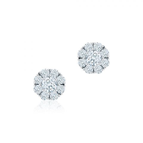 Birks 18k White Gold .92cts  Diamonds Gold Earrings with Stones 450005973760