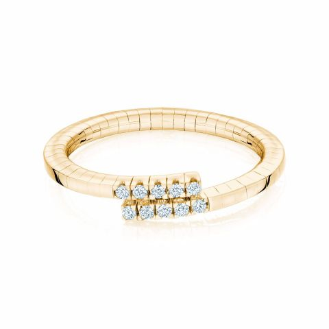 Birks 18k Yellow Gold .09cts  Diamonds Gold Ring with Stones 450011404166-7