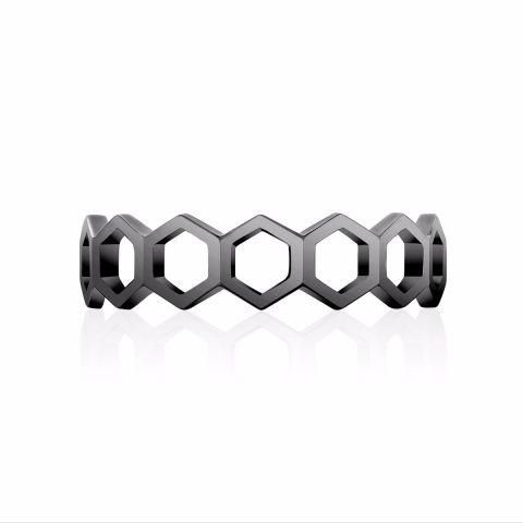 Birks   Titanium    Silver Rings without Stones 450012193762-7