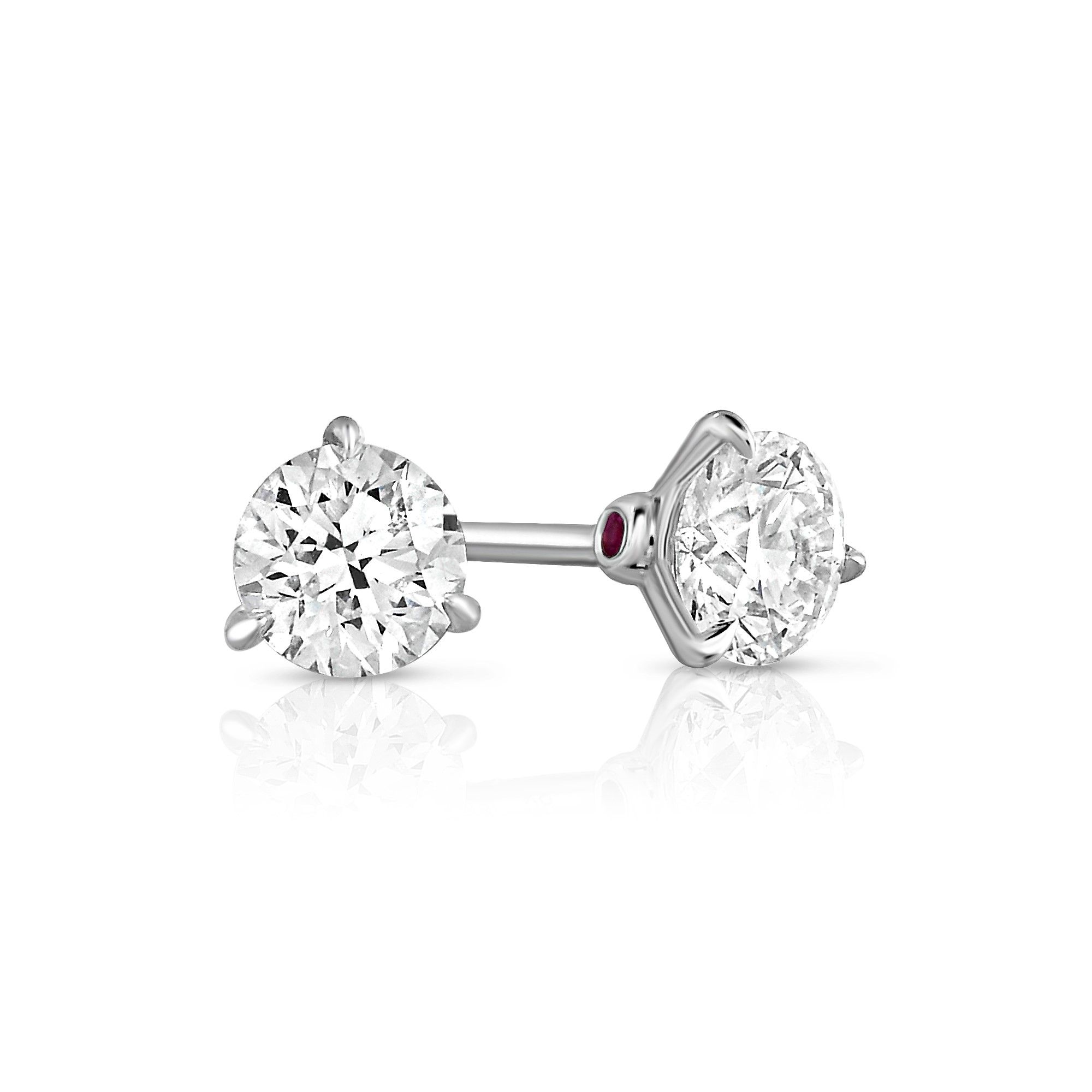 Cento 18K White Gold 1.41cts Diamonds  Gold Earrings with Stones RCSTUDWG6150-303