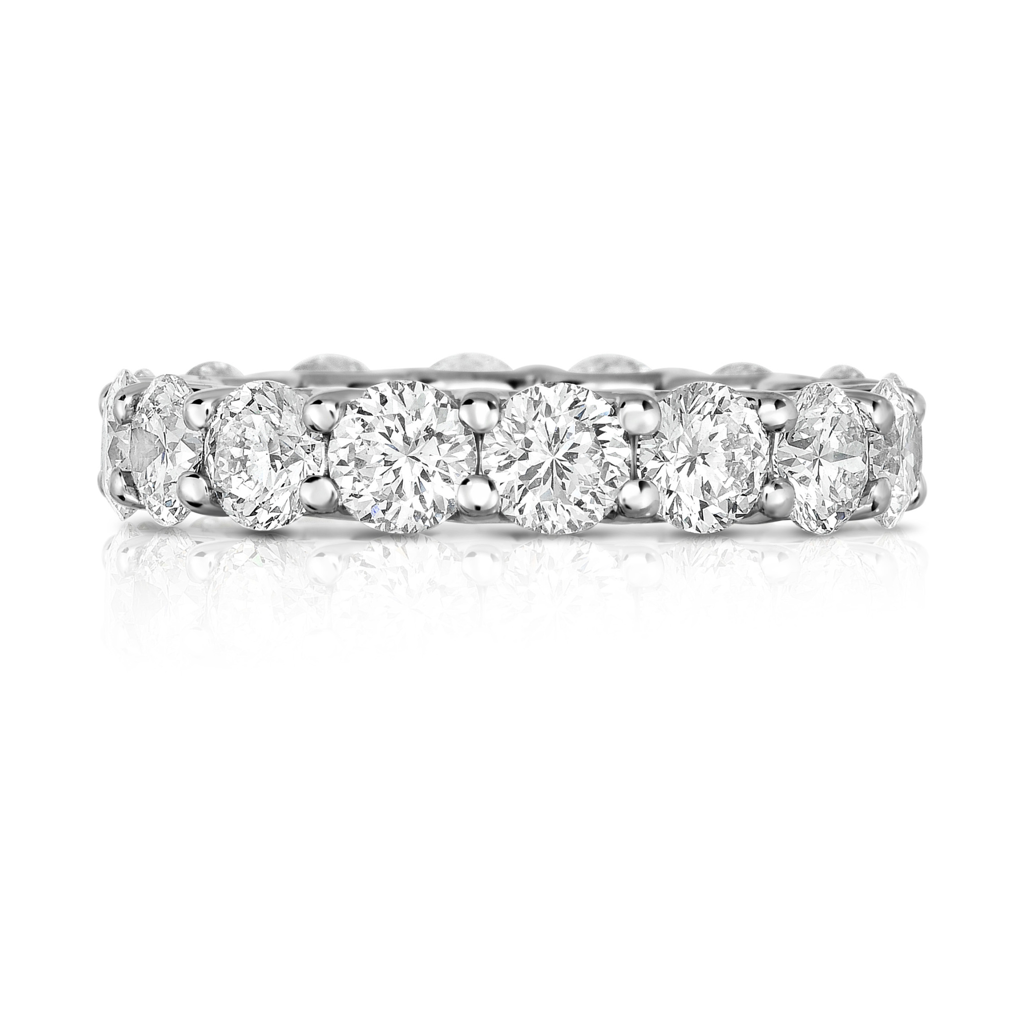Cento 18K White Gold 4.99cts  Diamonds Gold Ring with Stones 2064W70VF500-301