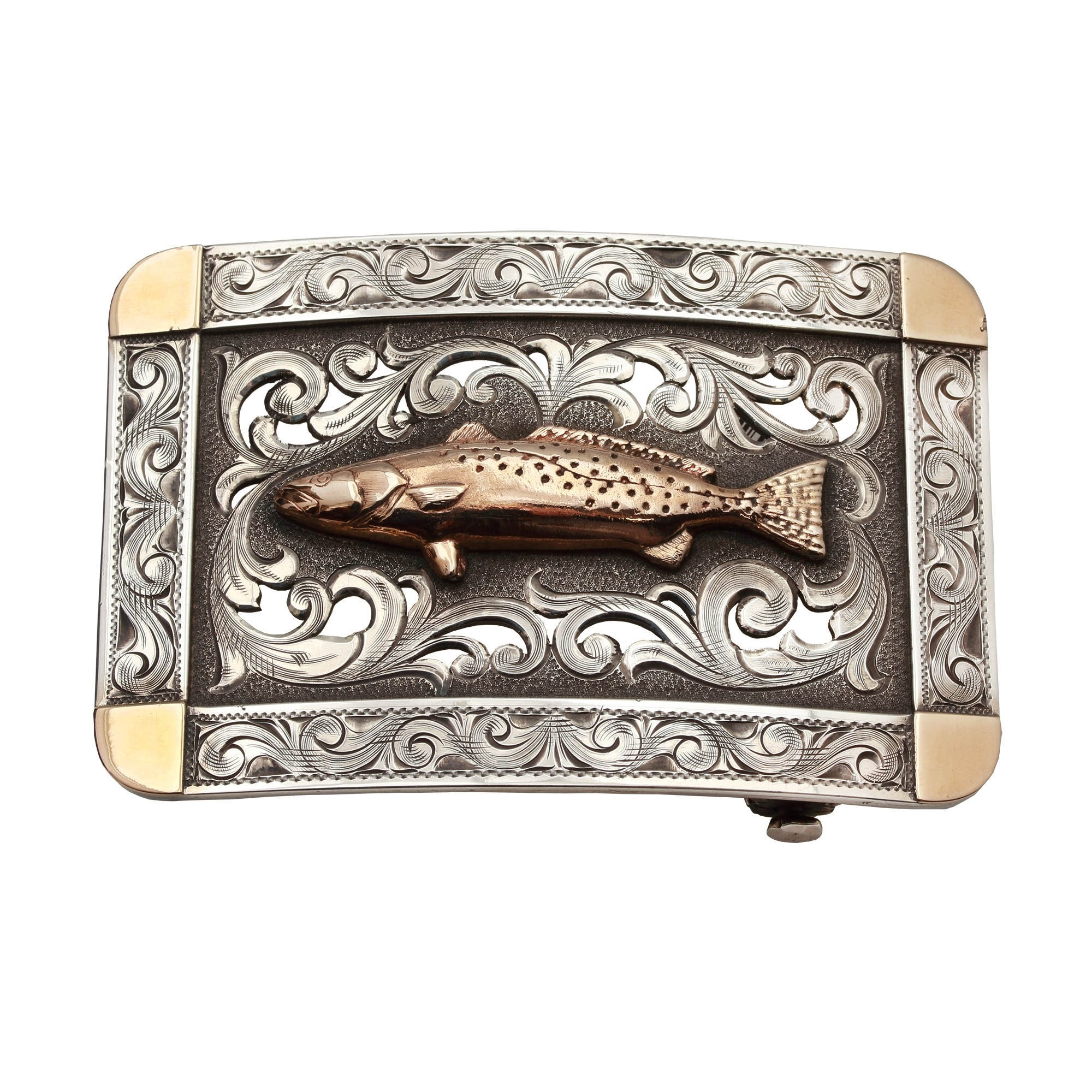 Clint Orms  Sterling Silver    Belt Buckle MISTY VALLEY-1801