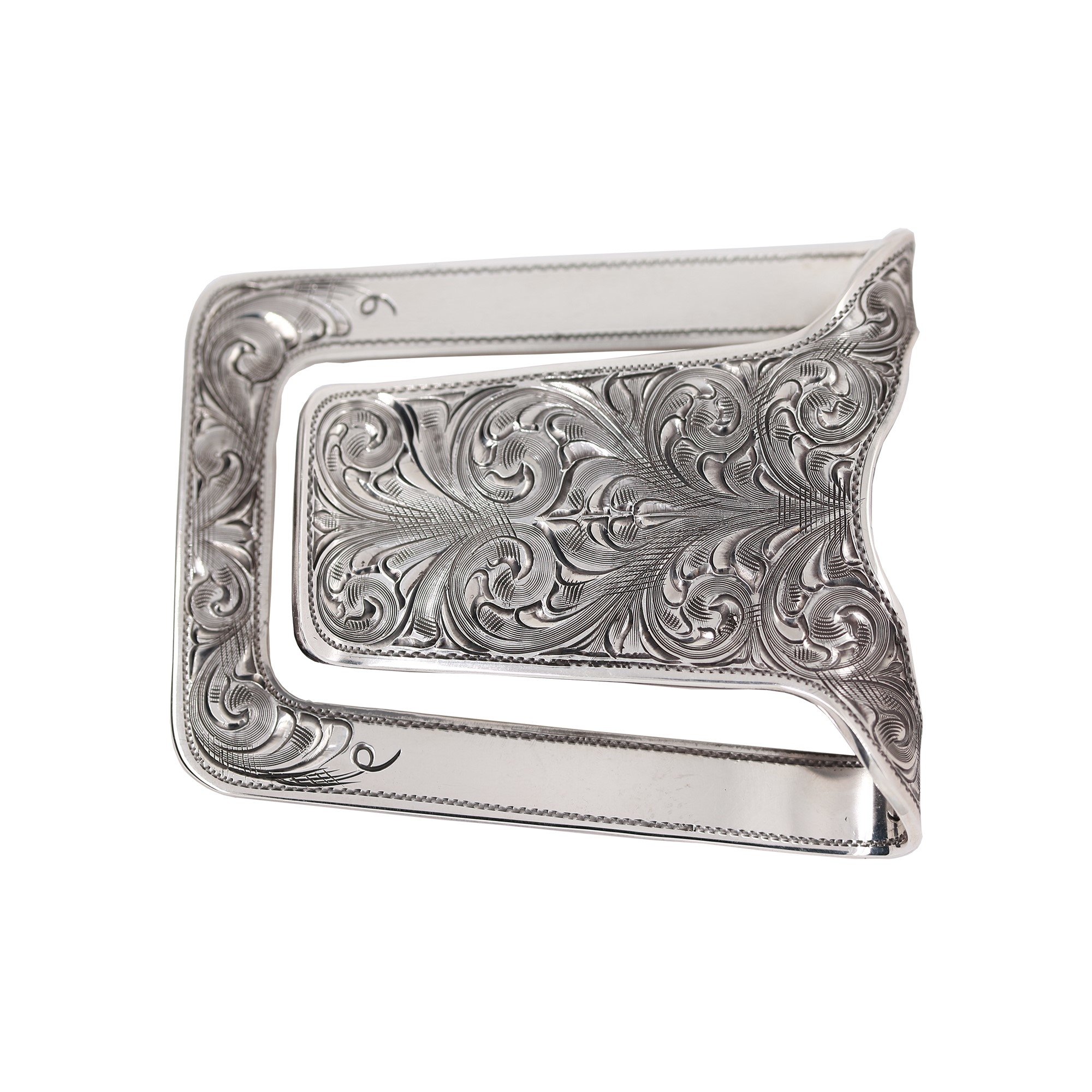 Clint Orms  Sterling Silver    Belt Buckle San Augstine-1800