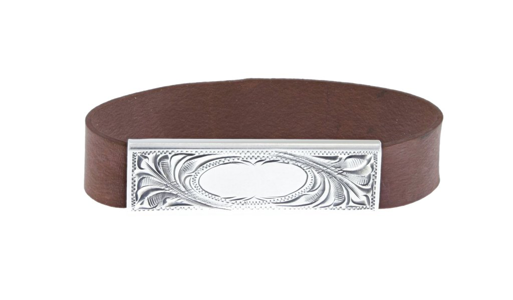 Clint Orms  Sterling Silver    Belt Buckle Rubber Band-1801
