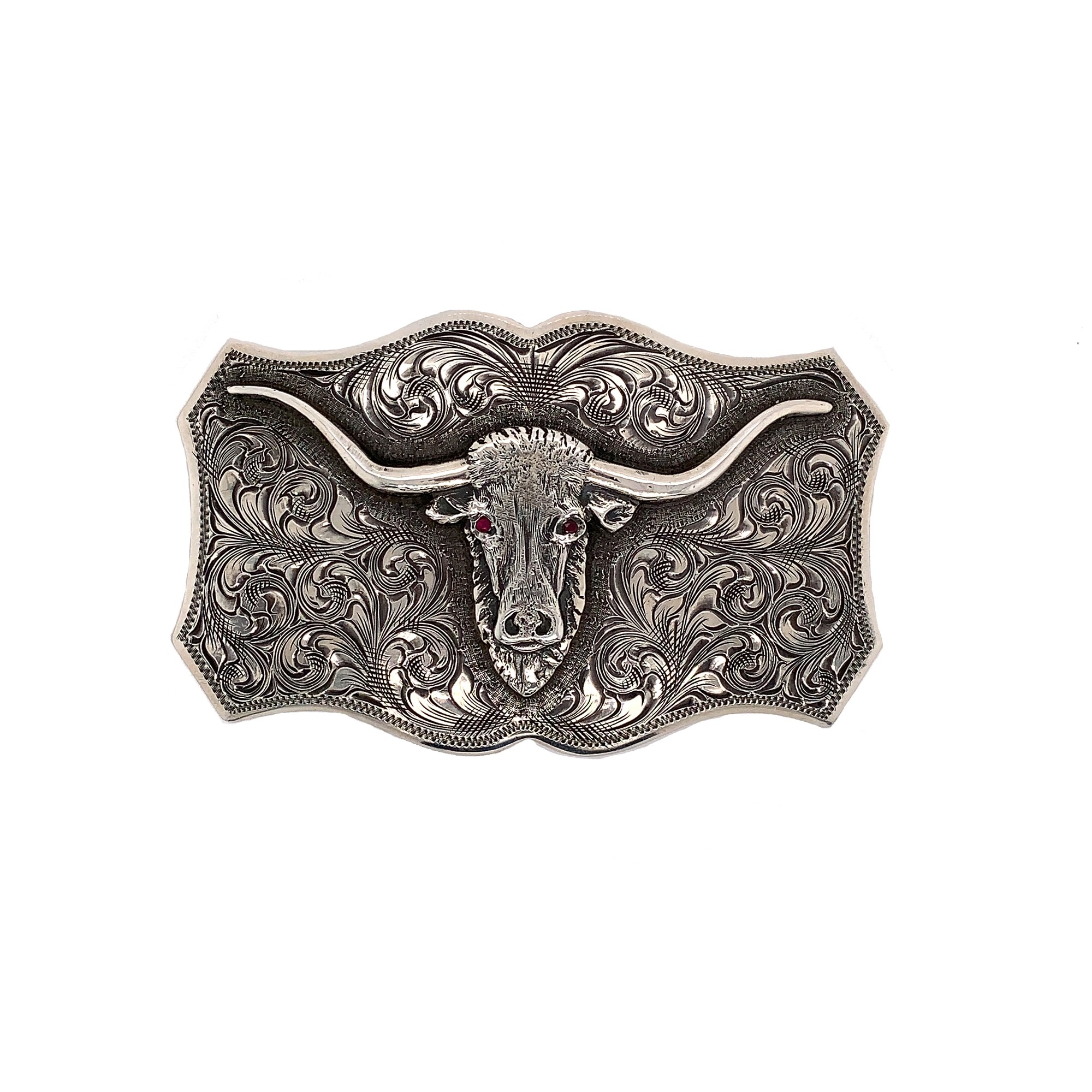 Clint Orms  Sterling Silver    Belt Buckle Trinity-1801