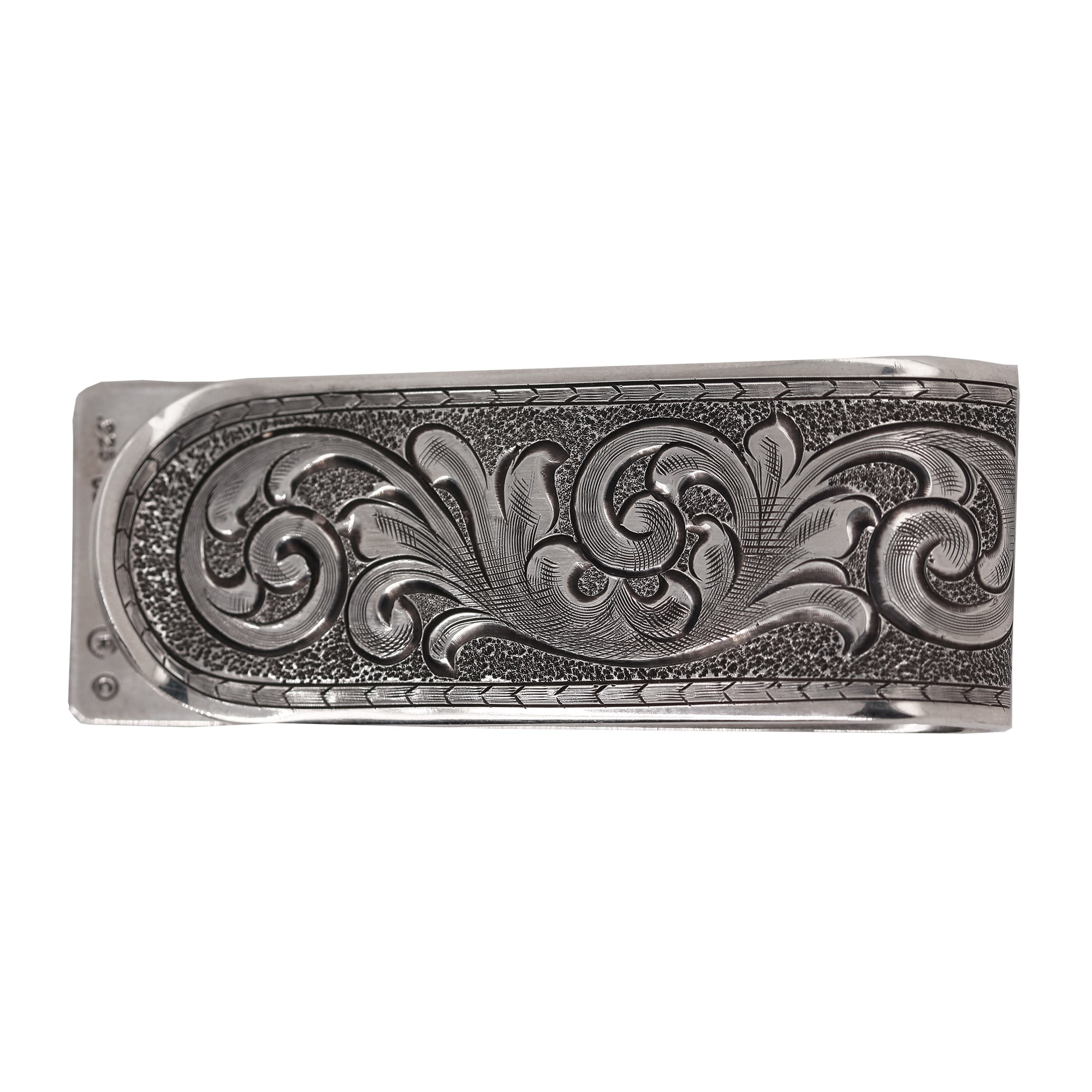 Clint Orms  Sterling Silver    Belt Buckle Folded-2056