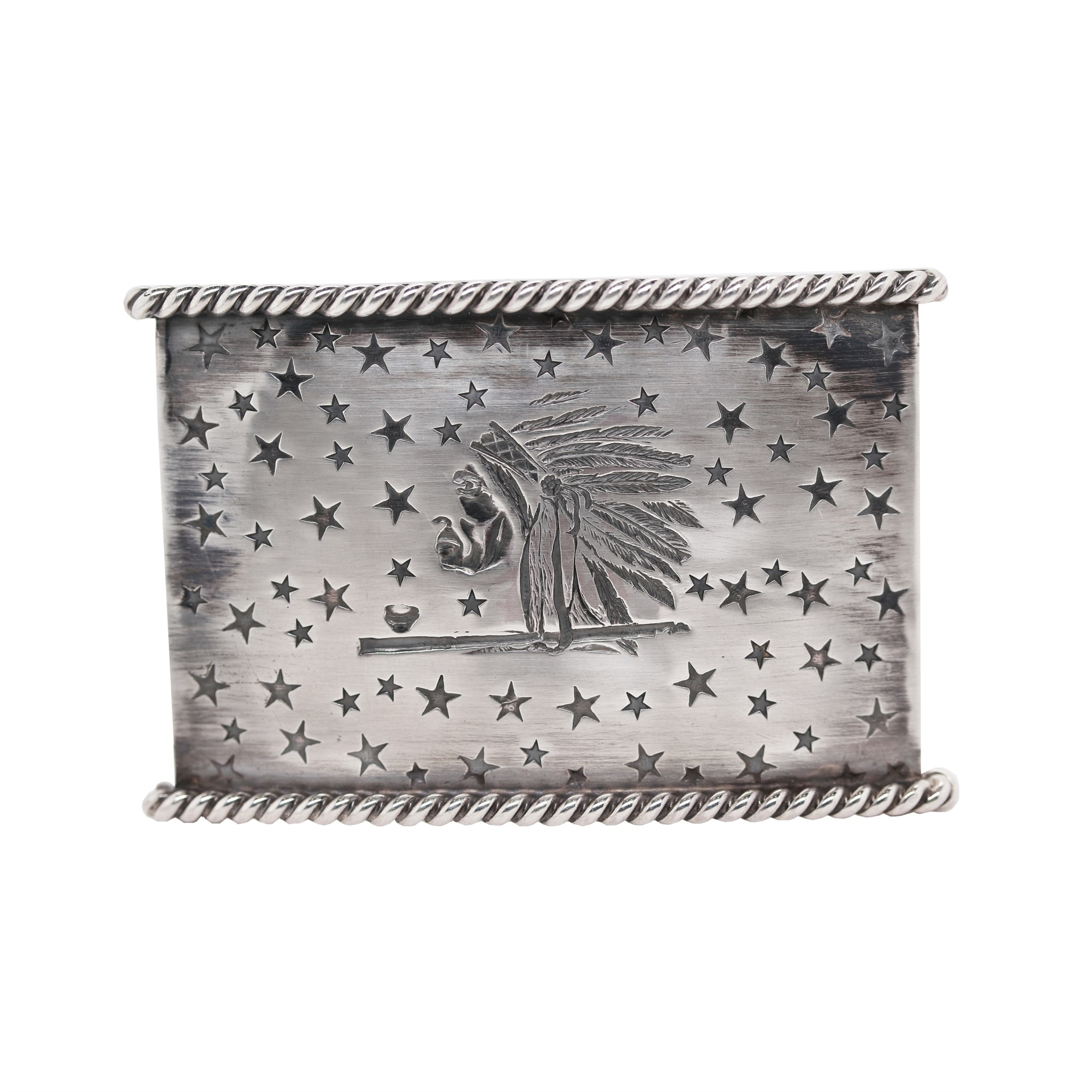 Clint Orms  Sterling Silver    Belt Buckle STARR-1812