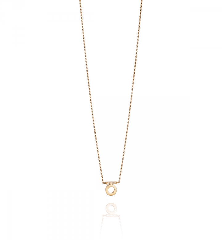 Efva Attling 18K Yellow Gold   Diamonds Gold Necklace with Stones 10-101-01193/4245