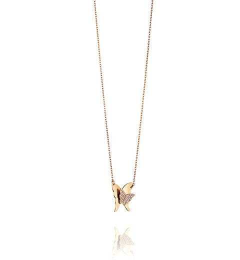 Efva Attling 18K Yellow Gold   Diamonds Gold Necklace with Stones 10-101-01016/4245