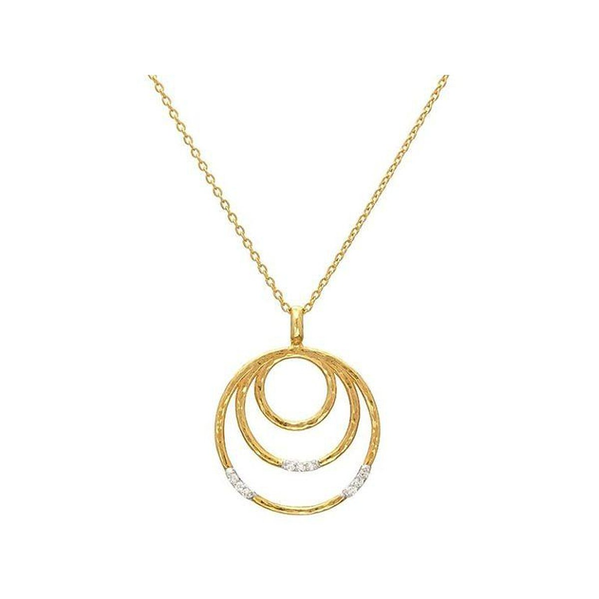 Gurhan 22K Yellow Gold .072cts  Diamond Gold Necklace with Stones CHN-3VP3DI-3RD-S-18
