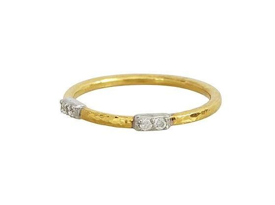 Gurhan 22K Yellow Gold .15cts  Diamond Gold Ring with Stones R170-2VP2DI