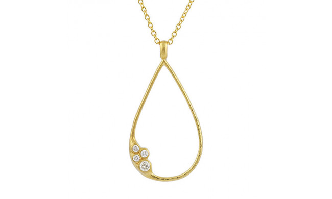 Gurhan 22K Yellow Gold .22cts  Diamond Gold Necklace with Stones CHN-SCTDI-DR-L-HO