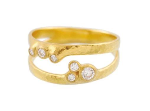 Gurhan 22K Yellow Gold .27cts  Diamonds Gold Ring with Stones R-SCTDI-DB-HO-NV