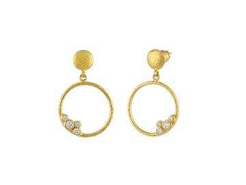 Gurhan 22K Yellow Gold .44cts  Diamonds Gold Earrings with Stones LTE-SCTDI-RD-S-HO