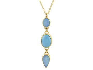 Gurhan 22K and 24K Yellow Gold   Opal Gold Necklace with Stones N-U22491-MS