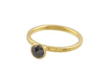 Gurhan 24K Yellow Gold .53cts Black Diamonds Gold Ring with Stones R-U21501-BD