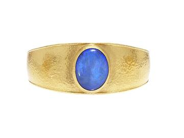 Gurhan 24K Yellow Gold 14.97cts  Opal Gold Bangle with Stones B-U23709-OP
