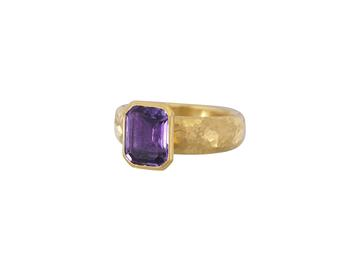 Gurhan 24K Yellow Gold  Purple Amehtyst Gold Ring with Stones R-U25557-AM