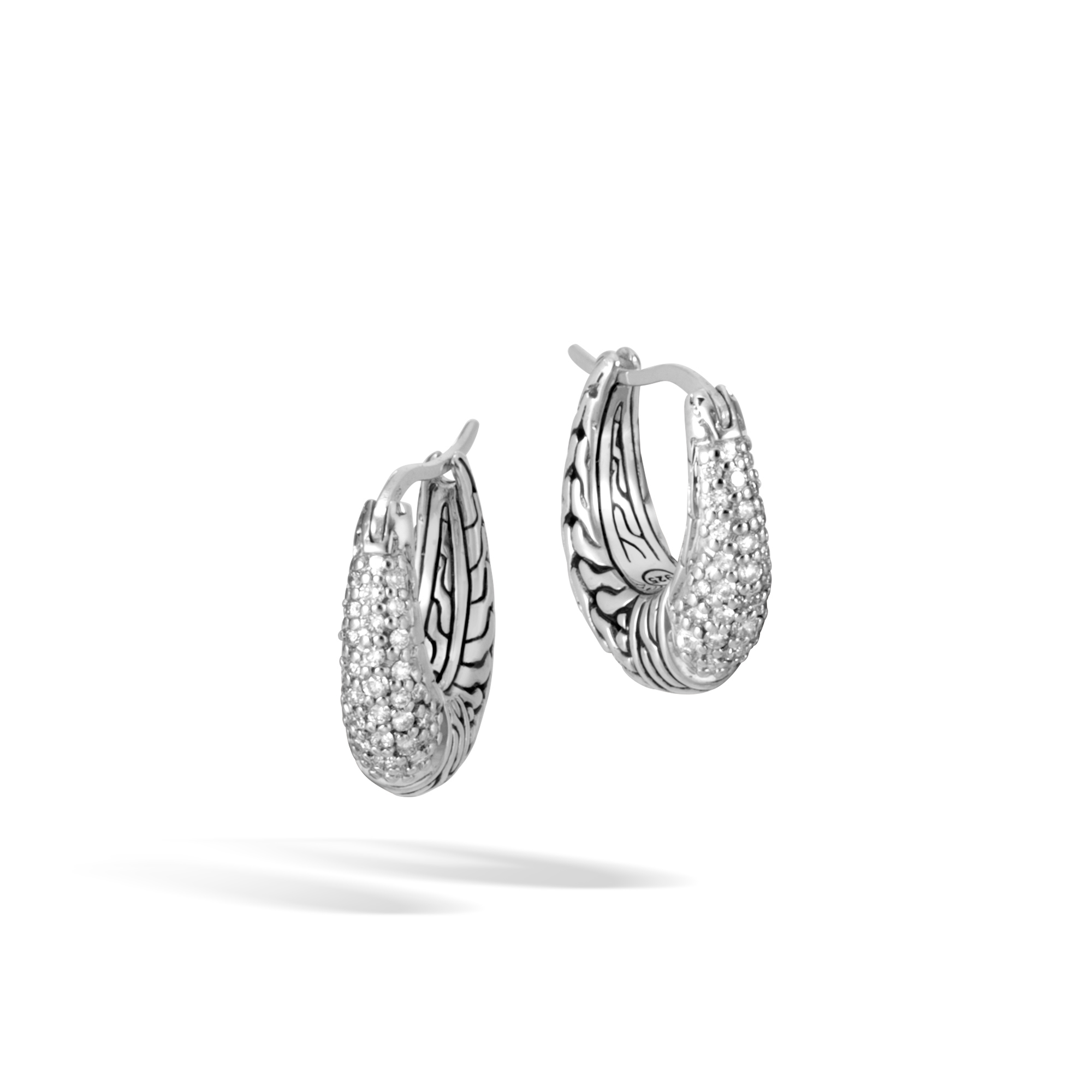 John Hardy  Sterling Silver .30cts  Diamonds Silver Earrings with Stones EBP900432DI