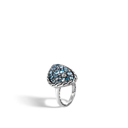 John Hardy  Sterling Silver  Blue Topaz Silver Rings with Stones RBS903594MBTSCCX7