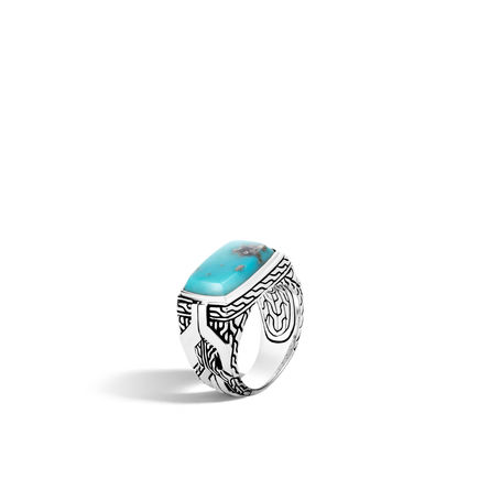John Hardy  Sterling Silver   Turquoise Silver Jewelry Mens RMS903061TQPX10