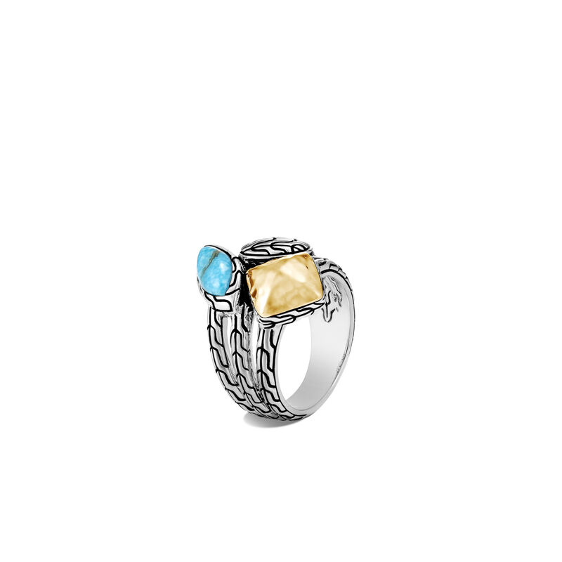 John Hardy  Sterling Silver   Turquoise Silver Rings with Stones RZS906481TQX7