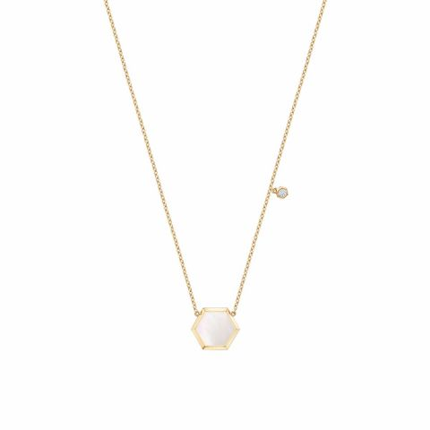 Maison Birks 18K Yellow Gold   Pearl Gold Necklace with Stones 450011497892