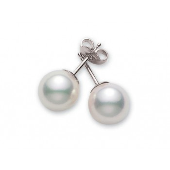 Mikimoto 18K White Gold   Pearl Pearl Earrings PES751W