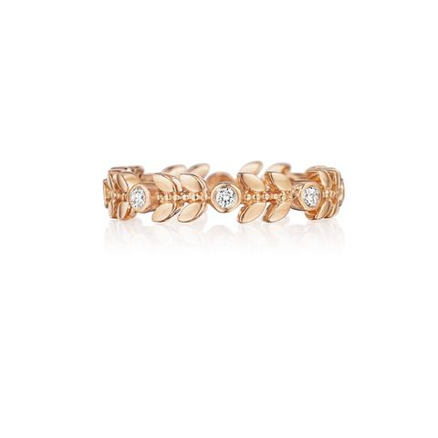 Penny Preville 18K Rose Gold .20cts  Diamonds Gold Ring with Stones R7595R