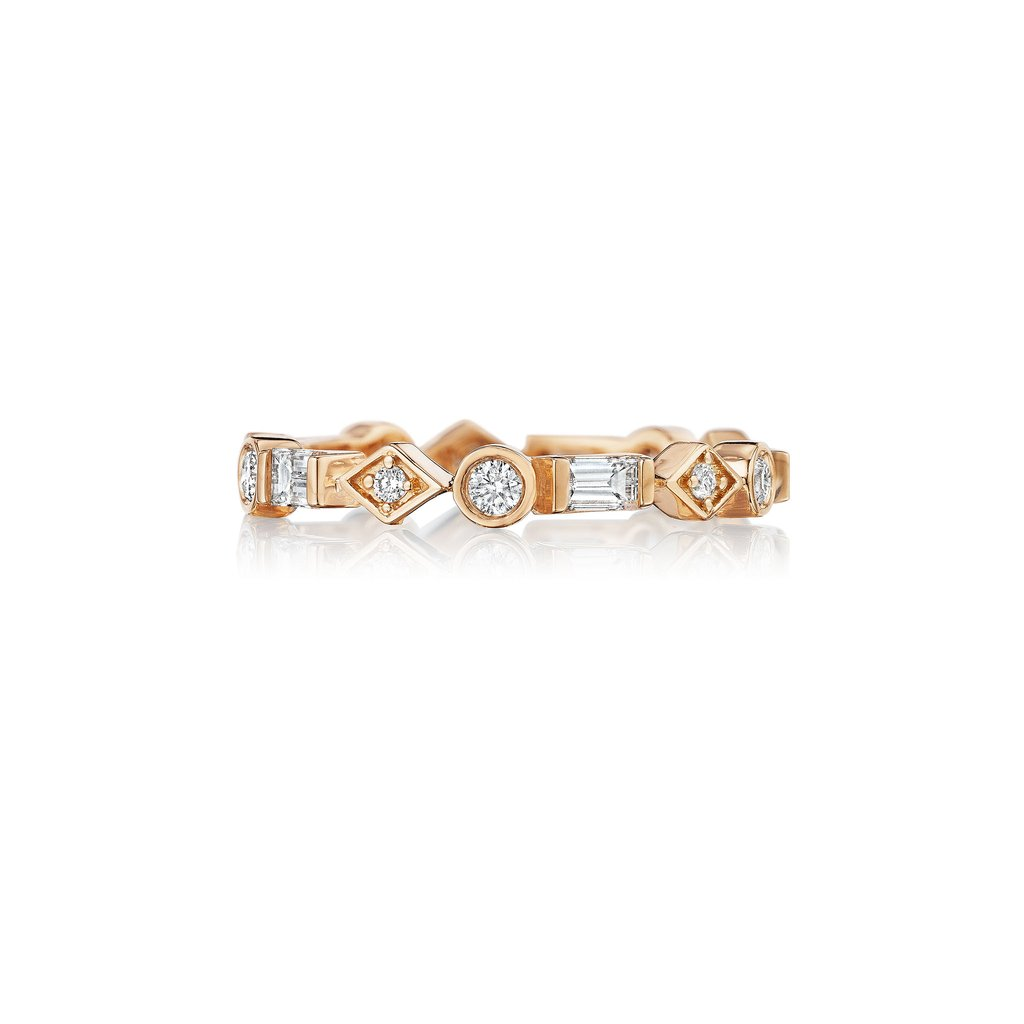 Penny Preville 18K Rose Gold .65cts  Diamonds Gold Ring with Stones R7603R
