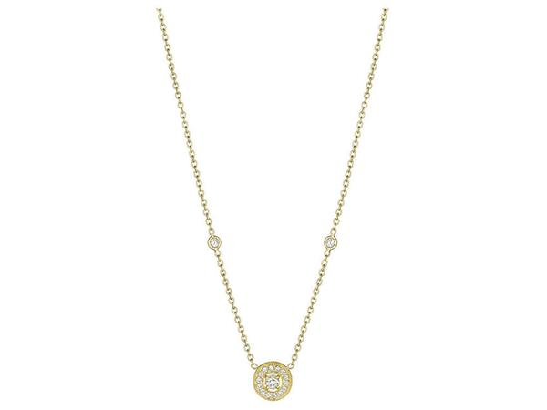 Penny Preville 18K Yellow Gold .36cts  Diamonds Gold Necklace with Stones N1005G-LD