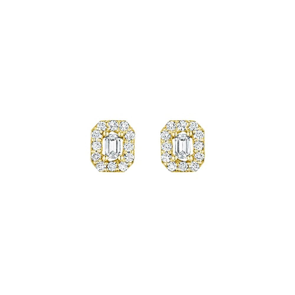 Penny Preville 18K Yellow Gold .86cts  Diamonds Gold Earrings with Stones E5133G