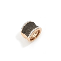 Pesavento  Sterling Silver .25cts Bronze Diamonds Silver Rings with Stones HPLVA006/M