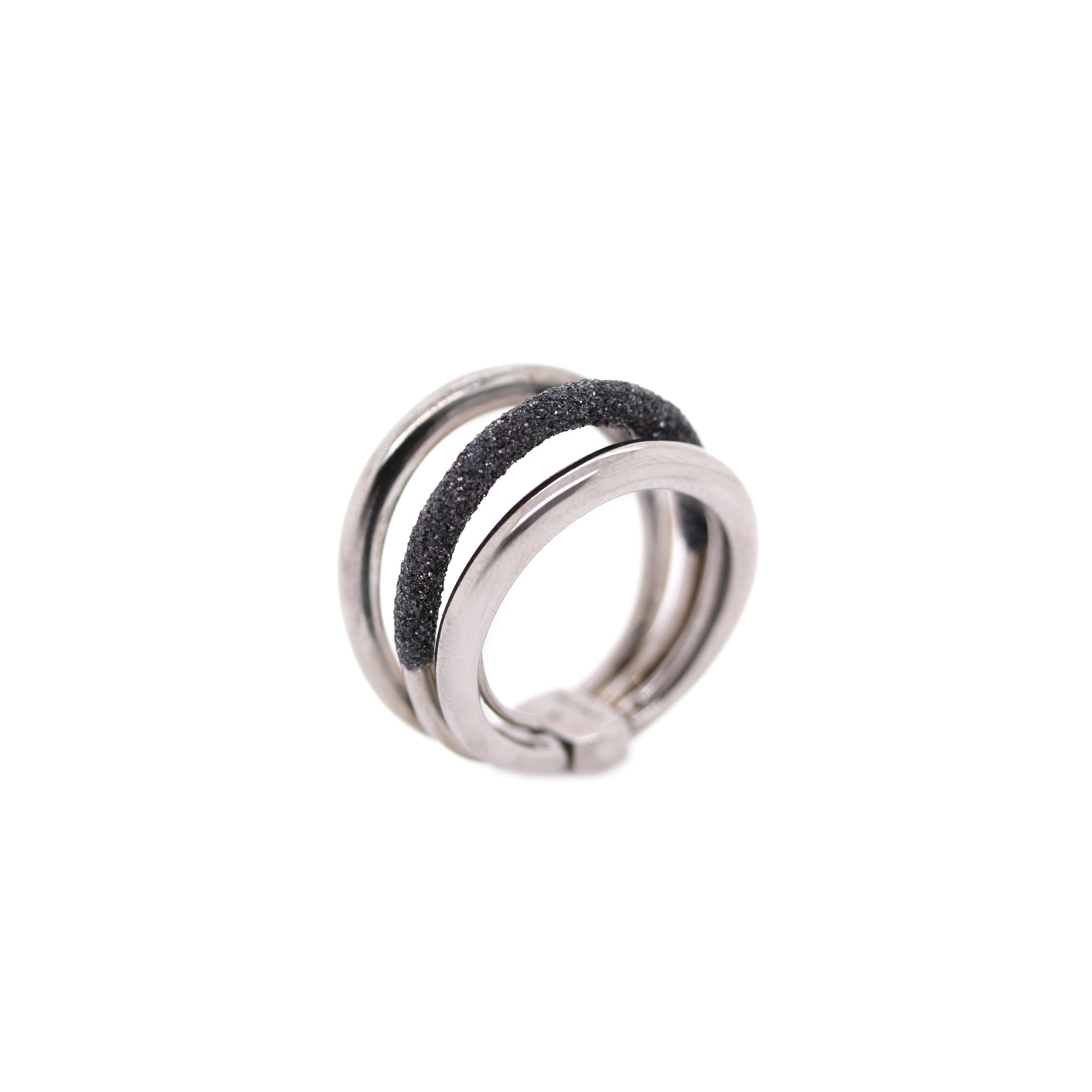 Pesavento  Sterling Silver  Black Polvere Silver Rings without Stones WPLVA720/M