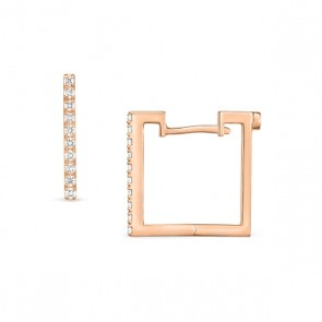 Roberto Coin 18K Rose Gold .19cts  Diamond Gold Earrings with Stones 002061AXERX0