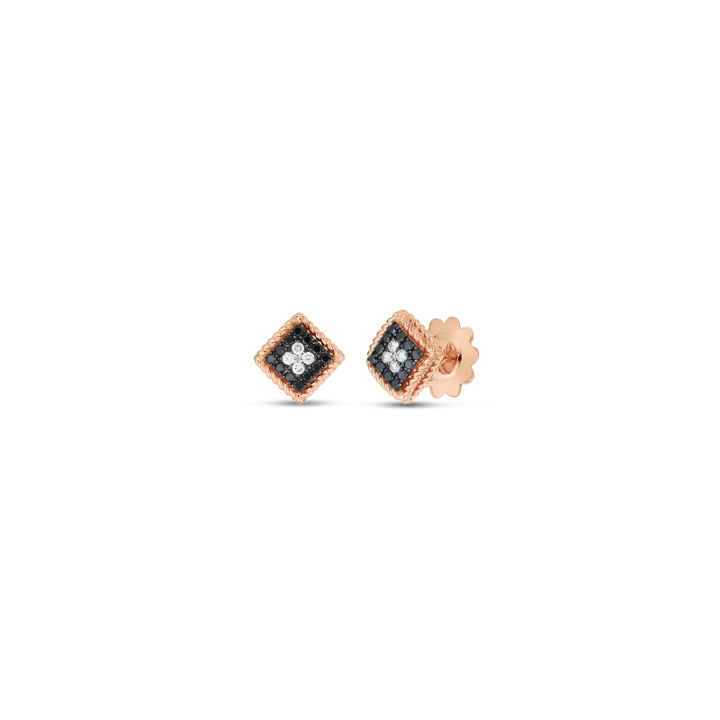 Roberto Coin 18K Rose Gold .35cts  Diamond Gold Earrings with Stones 7772875AXERX