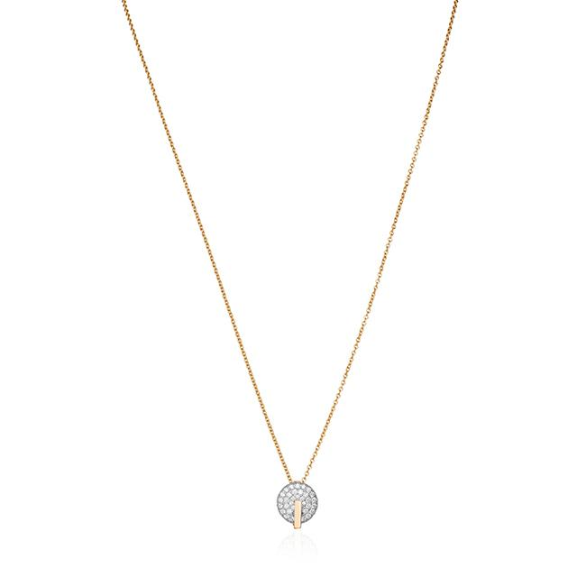 Roberto Coin 18K Rose Gold .92cts  Diamonds Gold Necklace with Stones 8882315AX18X