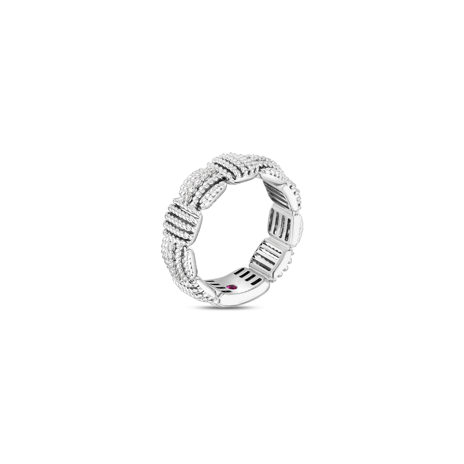 Roberto Coin 18K White Gold .16cts  Diamonds Gold Ring with Stones 7772894AW65X